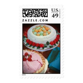 Vintage recipe - melon balls & Jello mold Postage