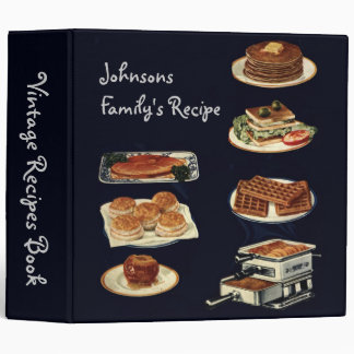Vintage Recipes Book, all american cookery 3 Ring Binder