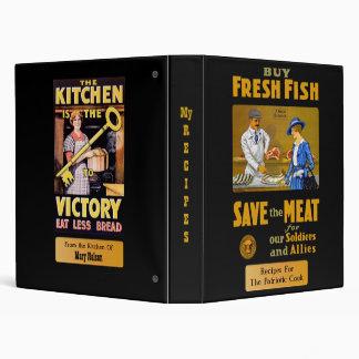 Vintage Recipes Patriotic Custom Binder