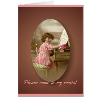 Vintage Recital Invitation Greeting Card
