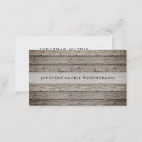 Vintage Reclaimed Wood Business Card