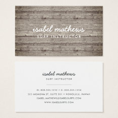Vintage Reclaimed Wood Business Card at Zazzle