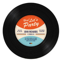 Vintage Record Birthday Invite