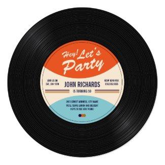more round vinyl record invitations from zazzle