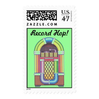 Vintage Record Hop Jukebox Records Dance Stamps