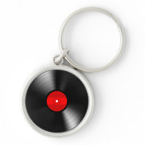 Vintage Record Keychain