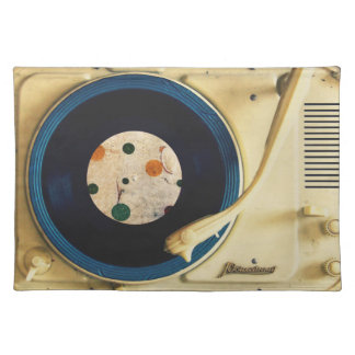 Vintage Record player Place Mat