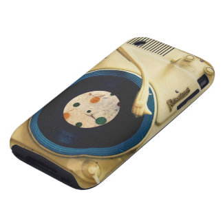 Vintage Record player Tough iPhone 3 Cases