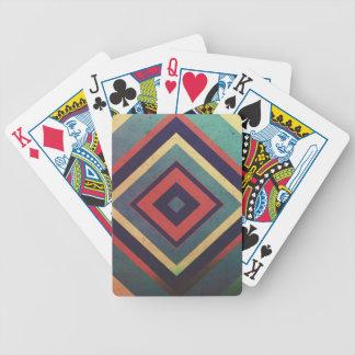 Vintage rectangular colorful bicycle playing cards