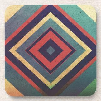 Vintage rectangular colorful coaster