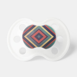Vintage rectangular colorful pacifier