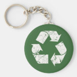 Vintage Recycle Sign Basic Round Button Keychain