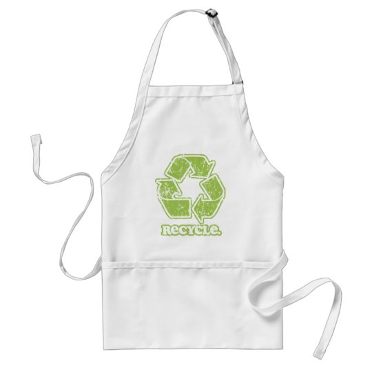 Vintage Recycle Sign BBQ Apron