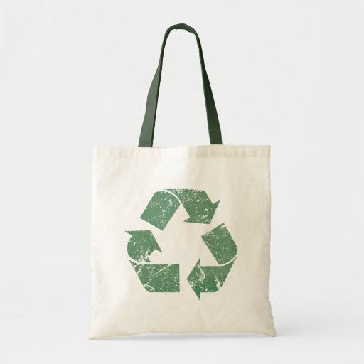 Vintage Recycle Sign Canvas Bag