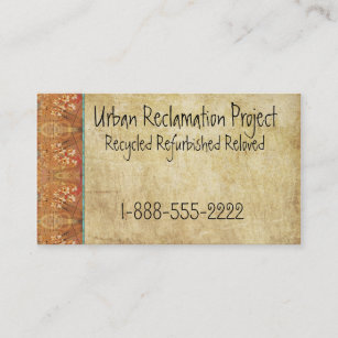 vintage recycled asian retro business card - Recycled Paper Business Cards