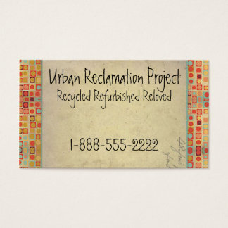 Vintage Recycled Retro Business Card