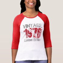 Vintage Red 1976 Limited Edition 40th Birthday T-Shirt