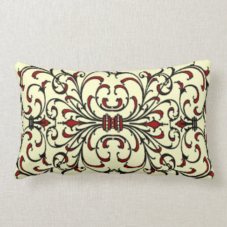 Vintage Red and Black Damask Pillows