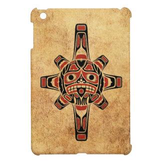 Vintage Red and Black Haida Sun Mask Case For The iPad Mini