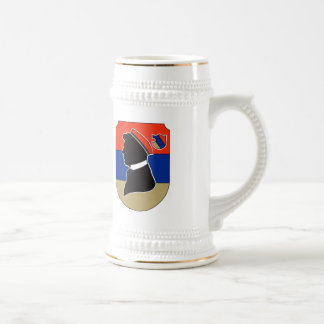 Vintage red and blue German student corps colors Mug