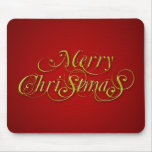Vintage Red And Gold Christmas Mousepad