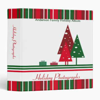 Vintage Red and Green Holiday Photographs Binder