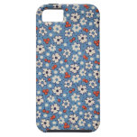 Vintage Red And White Floral Pattern iPhone 5 Case