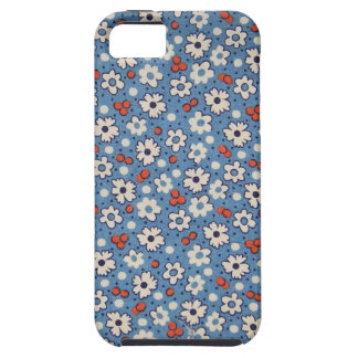 Vintage Red And White Floral Pattern iPhone SE/5/5s Case