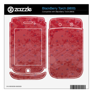 Vintage Red and White BlackBerry Torch Skin