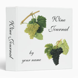 Vintage Red and White Wine Grapes on a Vine, Fruit Binder