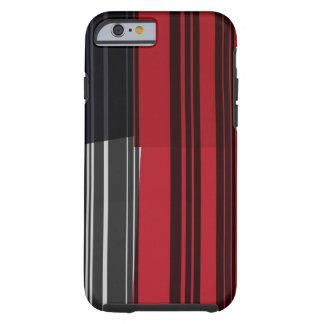 Vintage Red Black White Stripes Art Pattern iPhone 6 Case
