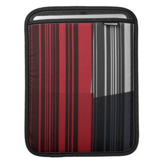 Vintage Red Black White Stripes Art Pattern Sleeve For iPads