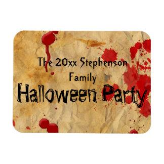 Vintage Red Blood Splatter Halloween Party Magnet