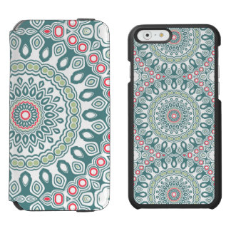 Vintage Red, Blue and Green Kaleidoscope Flowers Incipio Watson™ iPhone 6 Wallet Case