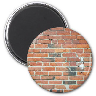Vintage Red Brick Wall Texture 2 Inch Round Magnet