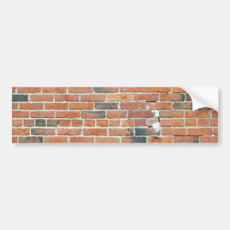 Vintage Red Brick Wall Texture Bumper Sticker