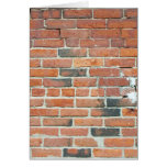 Vintage Red Brick Wall Texture Greeting Card