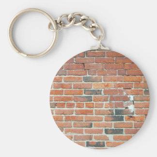 Vintage Red Brick Wall Texture Keychain
