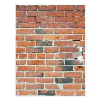 Vintage Red Brick Wall Texture Postcard
