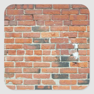 Vintage Red Brick Wall Texture Square Sticker