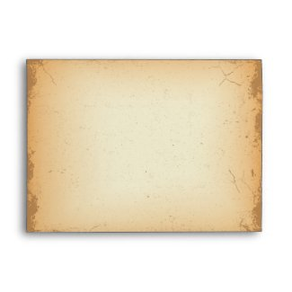 Vintage red brown floral swirls A7 envelope envelope