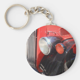 Vintage Red Bus Keychain