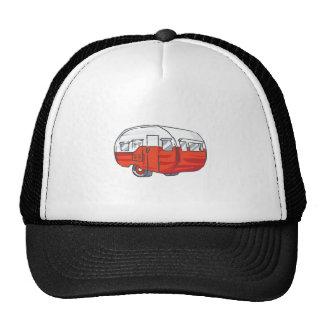 VINTAGE RED CAMPER TRUCKER HAT