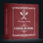 """Vintage Red Chalkboard Family Cookbook Binder<br><div class=""""desc"""">A fun,  vintage chalkboard look for this personalized family cookbook binder.</div>"""