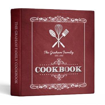 reflections06 Vintage Red Chalkboard Family Cookbook Binder