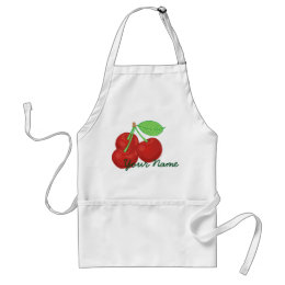 Vintage Red Cherries Cherry Cluster Personalized Adult Apron