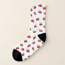 Vintage Red Cherries Cherry Pattern Socks