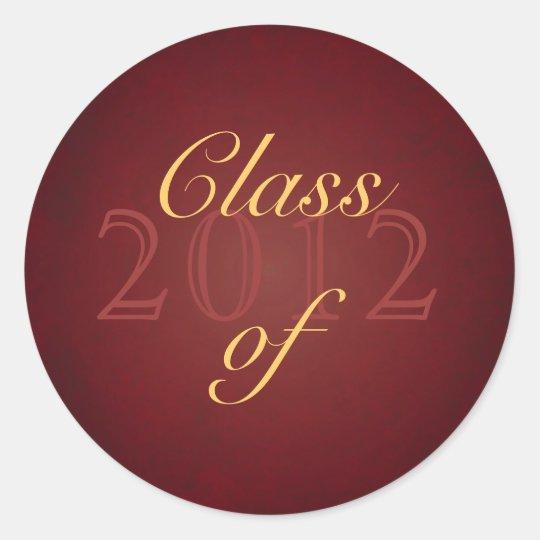 Vintage Red Class of Graduation Sticker