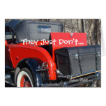 vintage red coupe 1- customize any occasion card