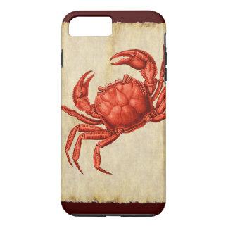 Vintage Red Crab Design iPhone 8 Plus/7 Plus Case